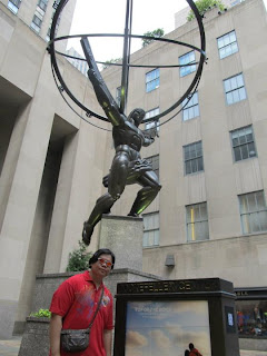 New York City Rockefeller Center Atlas statue