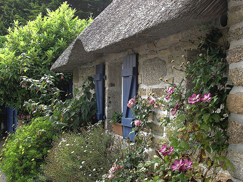 A joyful cottage cottage shutters and window boxes for Country garden designs ireland