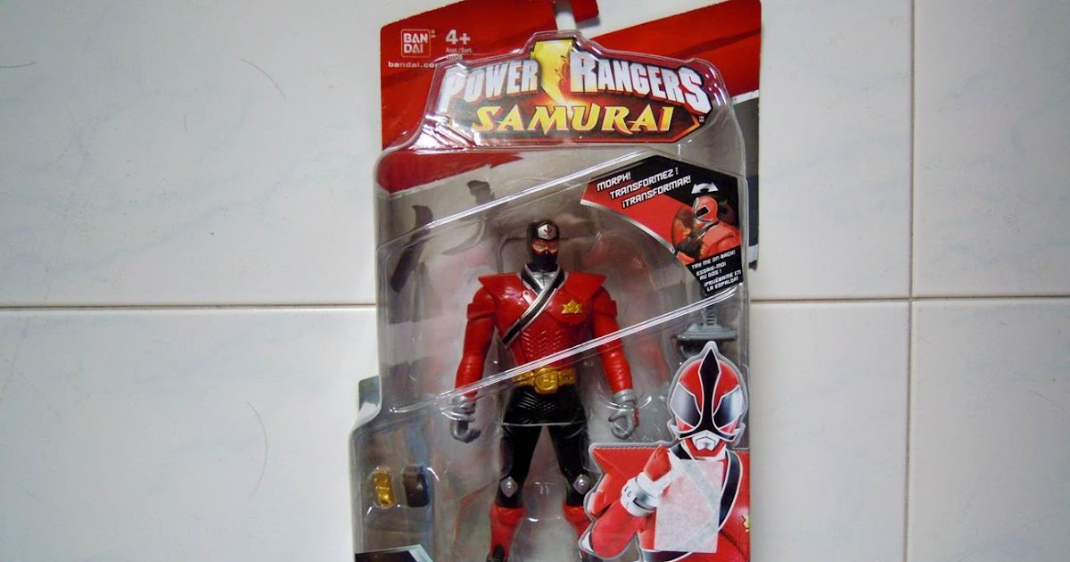 Power Rangers Samurai Red Switch Morph Ranger figure