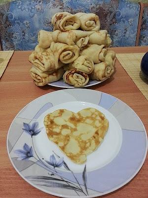 Бездрожжевые блинчики с картошкой и грибами