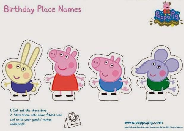 Peppa Pig Printable Birthday Decorations ~ Nice ideas and free printables