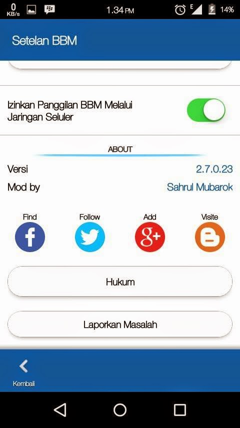Download BBM Mod Simple Blue Versi 2.7.0.23 Apk