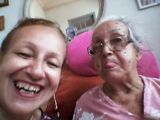 eu com mamãe