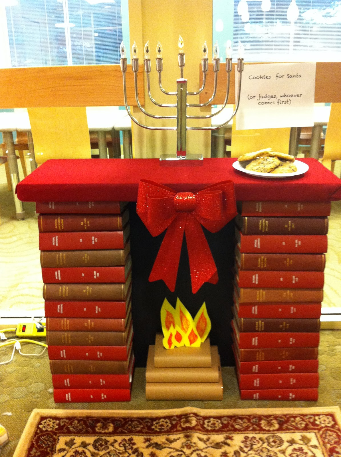 Celebrating the holidays library style the sassy librarian for Art book decoration ideas