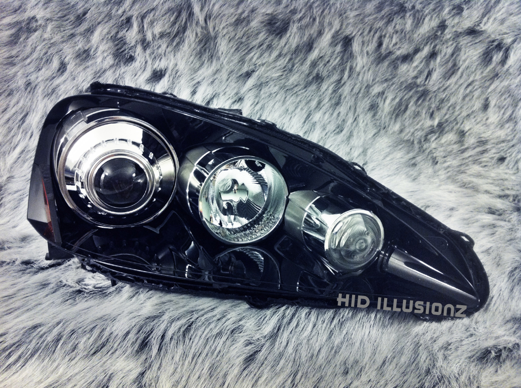 HID ILLUSIONZ Acura RSX TypeS S ER Projector HID Retrofit - 2002 acura rsx type s headlights