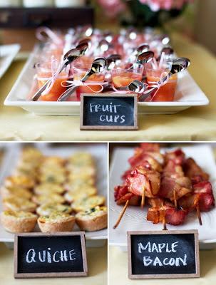 nombres en un buffet