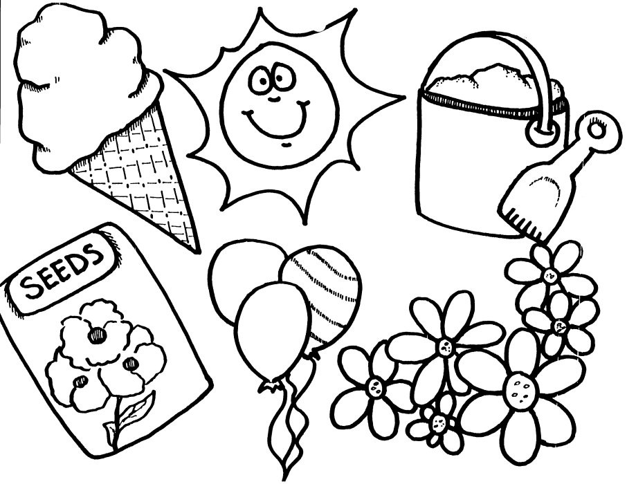 Spring Springtime Coloring Pages Colouring Coloringfilminspector