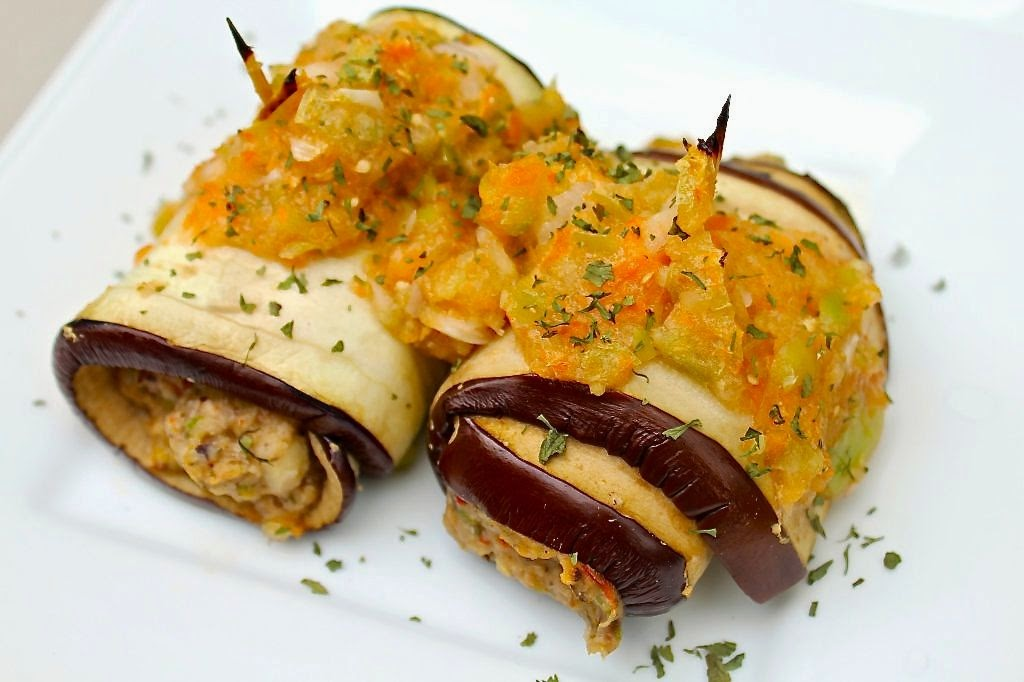 Black Bean Eggplant Roll-Ups
