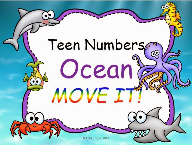 http://www.teacherspayteachers.com/Product/Ocean-Theme-Working-on-Teen-Numbers-MOVE-IT-659370