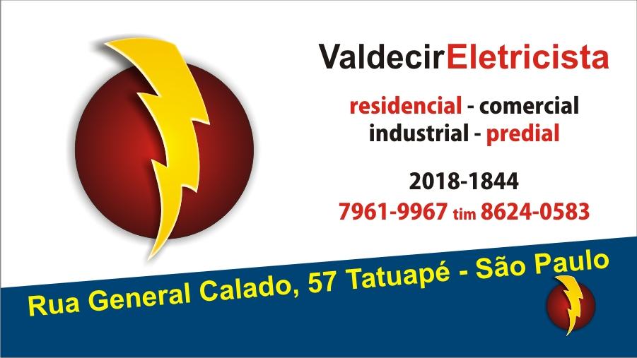 Populares LL Design Gráfico: Valdecir Eletricista - Cartão de visita HQ02
