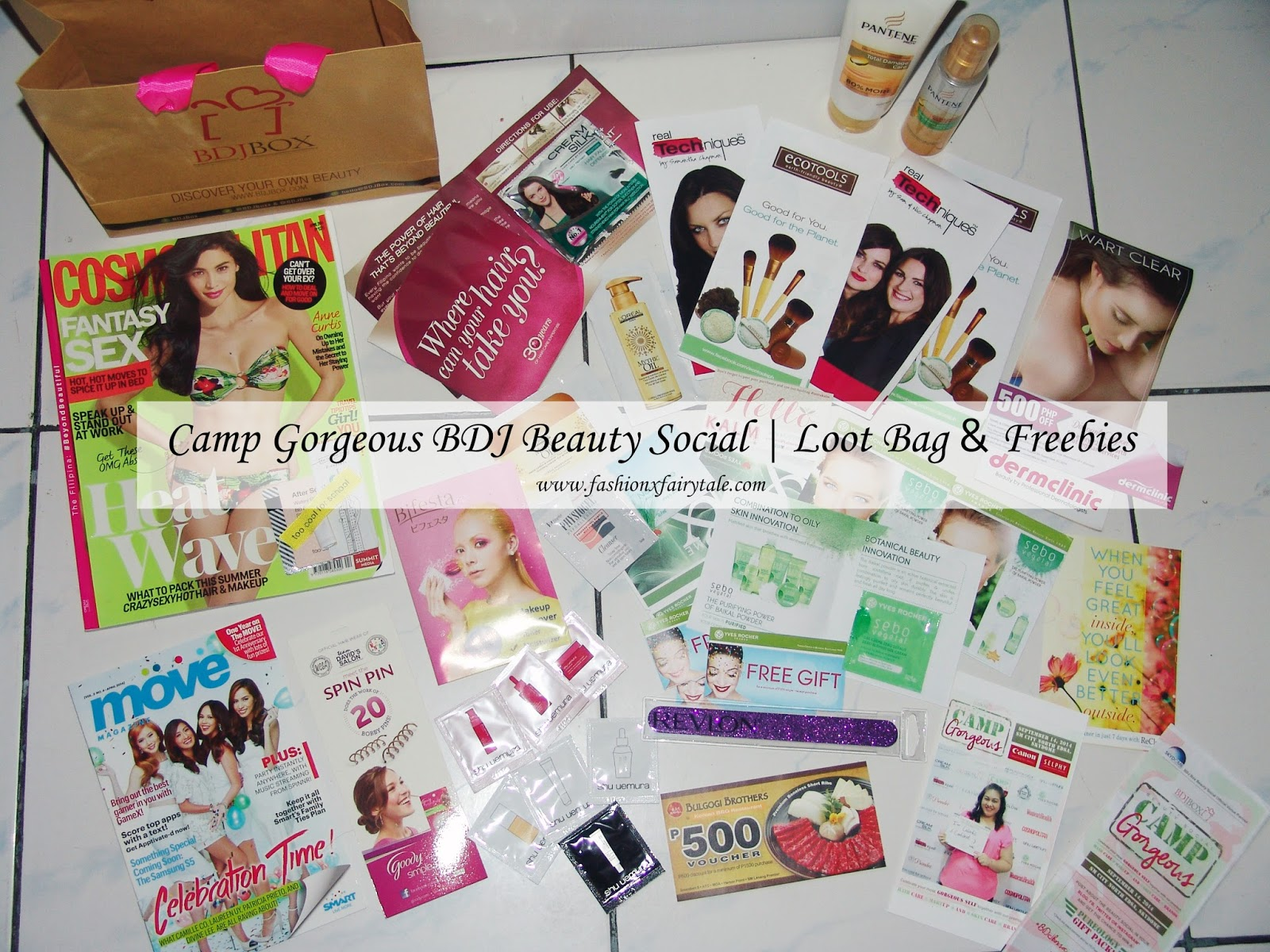 Camp Gorgeous BDJ Beauty Social | Loot Bag & Freebies