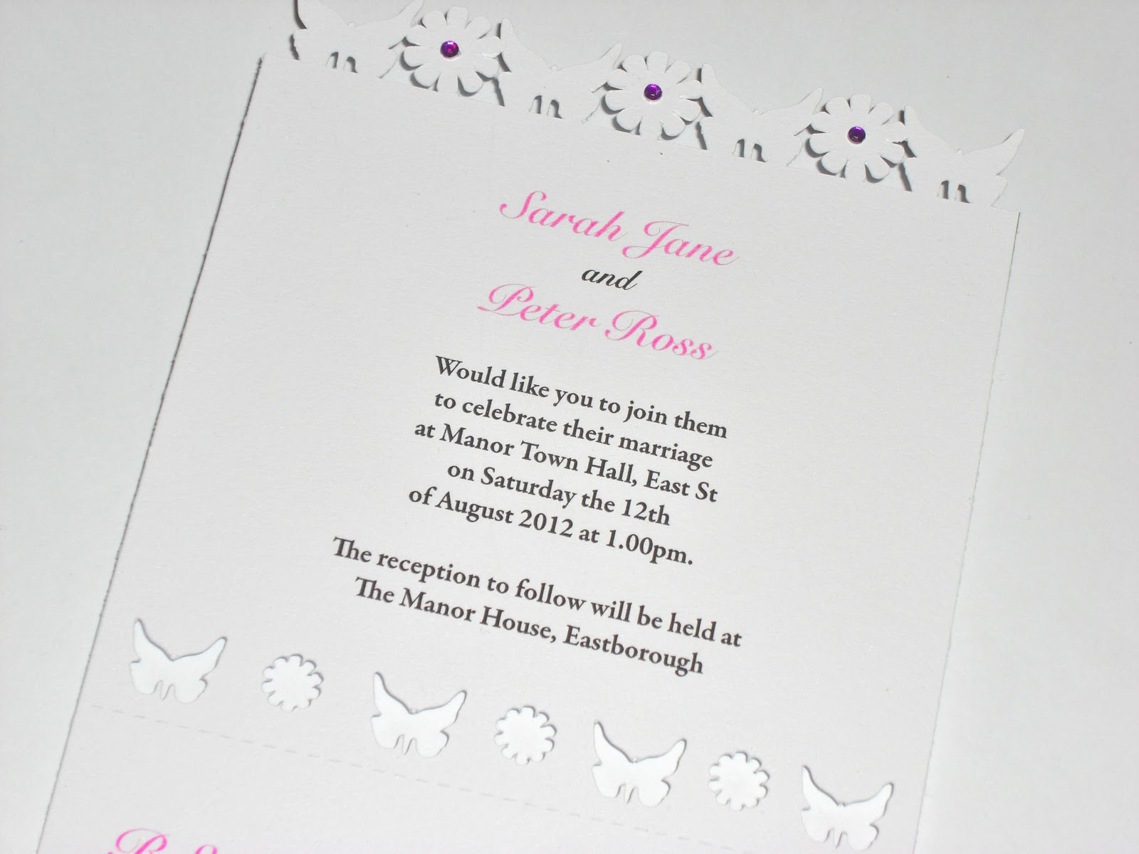 Sweet Pea Design: New Design Laser Cut Wedding Invitations ...