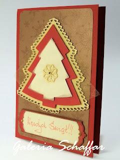 galeria schaffar kartka świąteczna z choinką ręcznie robiona wykrojnik Marianne Design wykrojnik choinka