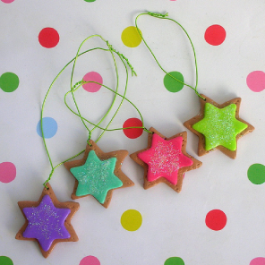 Hand made sugary Christmas tree decorations by Torie Jayne