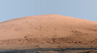 What Mount Sharp Would Look Like on Earth