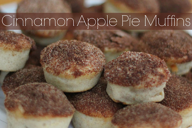 ... on pinterest we decided to make some cinnamon apple pie muffins