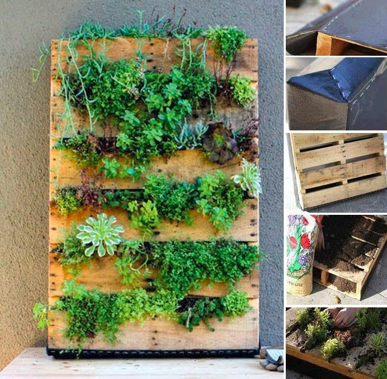 Palet mania el detalle que hace for Como hacer un jardin vertical con palets
