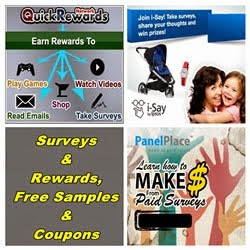 Surveys & Rewards, Free Samples & Coupons