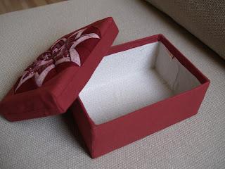 Hajtogatott dália, patchwork doboz