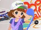 Kaykay Yapan Kız Giydirme Oyunu
