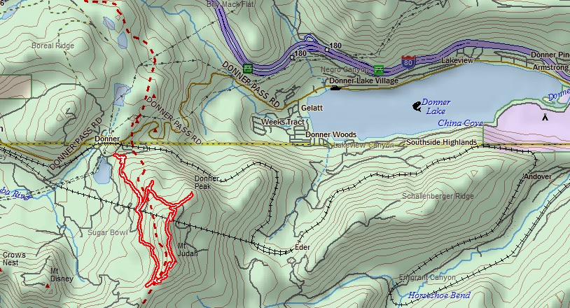 Oh To Be Hiking Mount Judah In The Sierra Nevada - Where to get topo maps for hiking