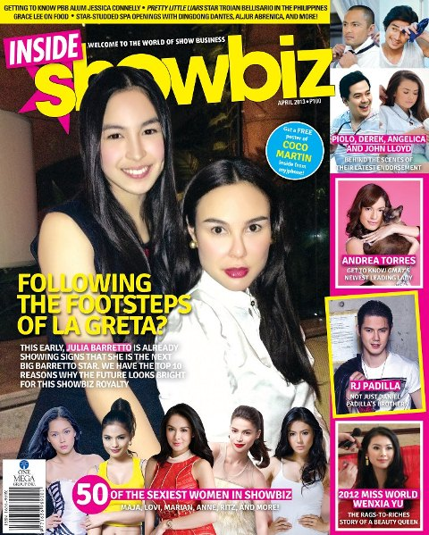 Julia Barretto and Aunt Gretchen Cover Inside Showbiz April 2013 Issue