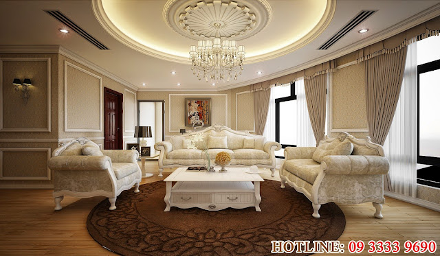 Phòng khách căn hộ 17 R6 Royal City sang trọng xứng danh tuyệt tác