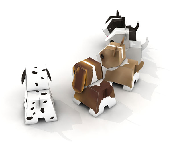 Puppy Paper Toys Templates