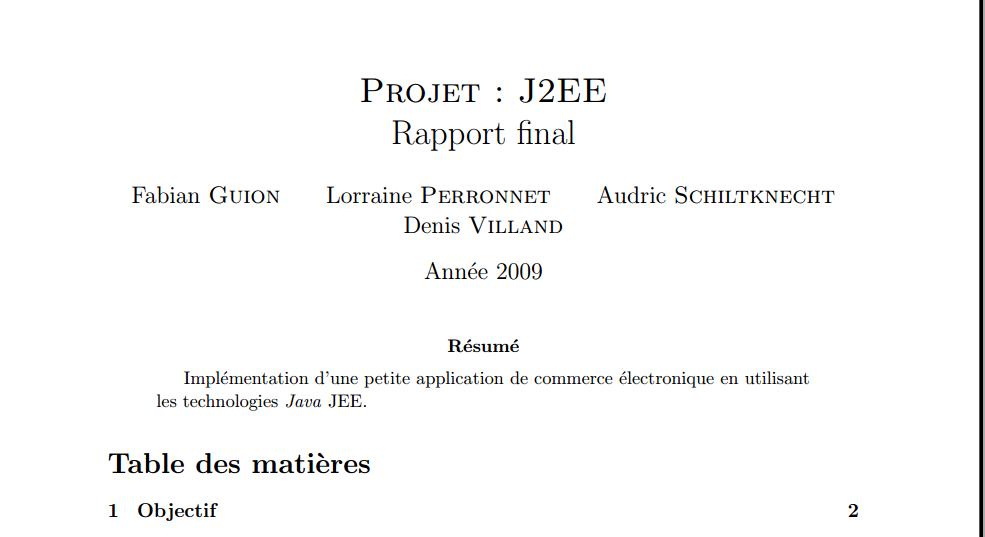 rapport pfe j2ee   impl ementation d u0026 39 une petite application de commerce electronique en