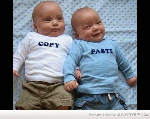 Copy and Paste baby t-shirts