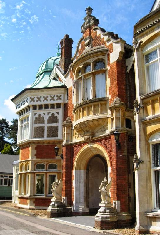 Main entrance to Bletchley Park mansion