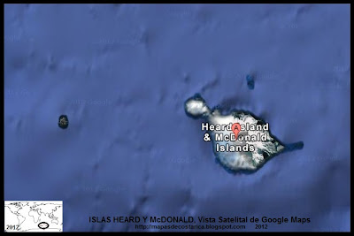 ISLAS HEARD Y McDONALD, Vista Satelital de Google Maps