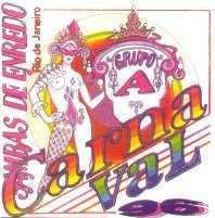 foto da capa do cd sambas de enredo 1996 grupo de acesso