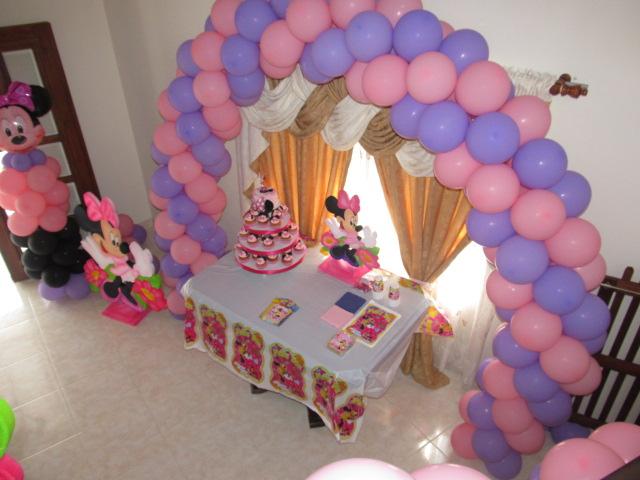 Decoracion Minnie Mouse Rosa ~ DECORACION GLOBOS MINNIE MOUSE RECREACIONISTAS MEDELLIN  Revoltosos