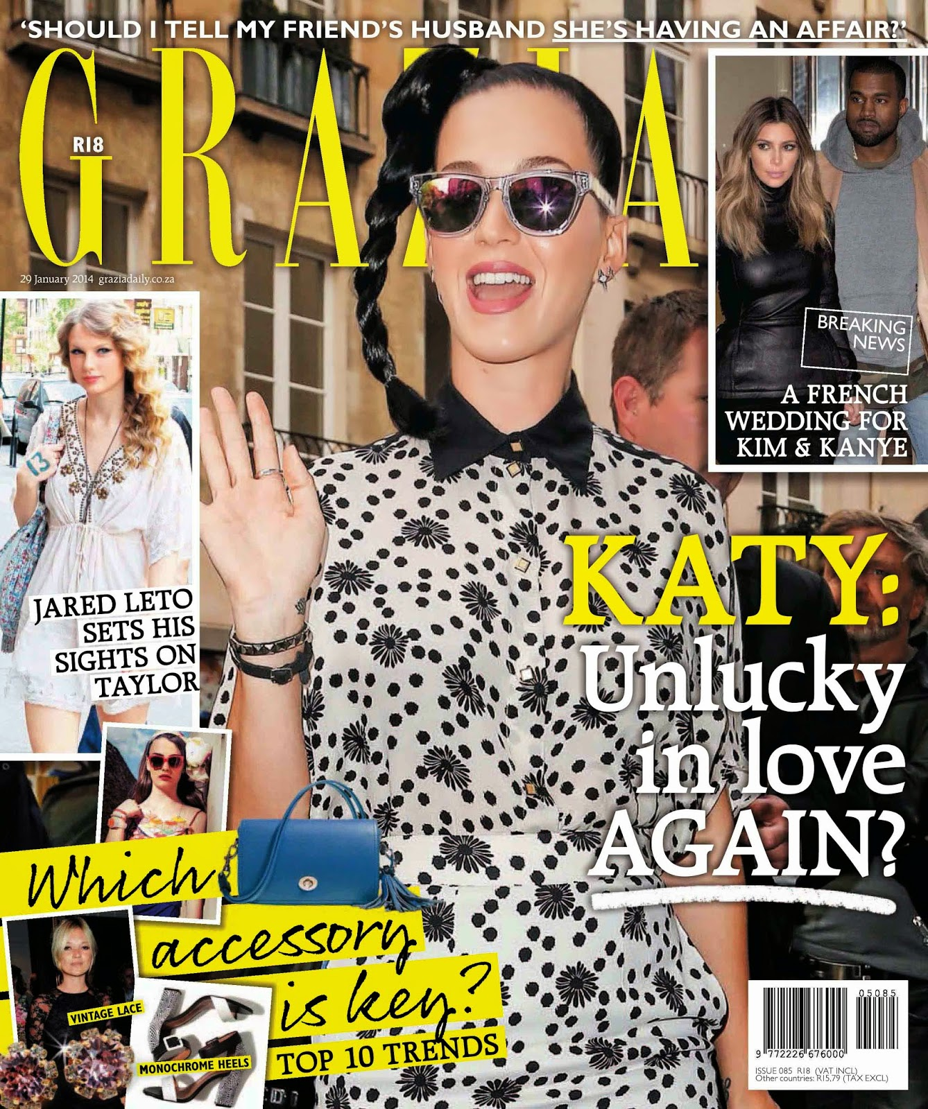 Katy Perry for Grazia Magazine Cover South Africa January 2014