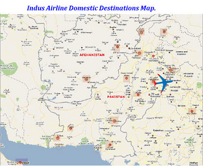 Indus Airline Domestic Desinations