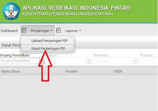 Cara Input Data Aplikasi PIP
