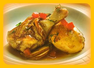 Pollo en salsa balsámica