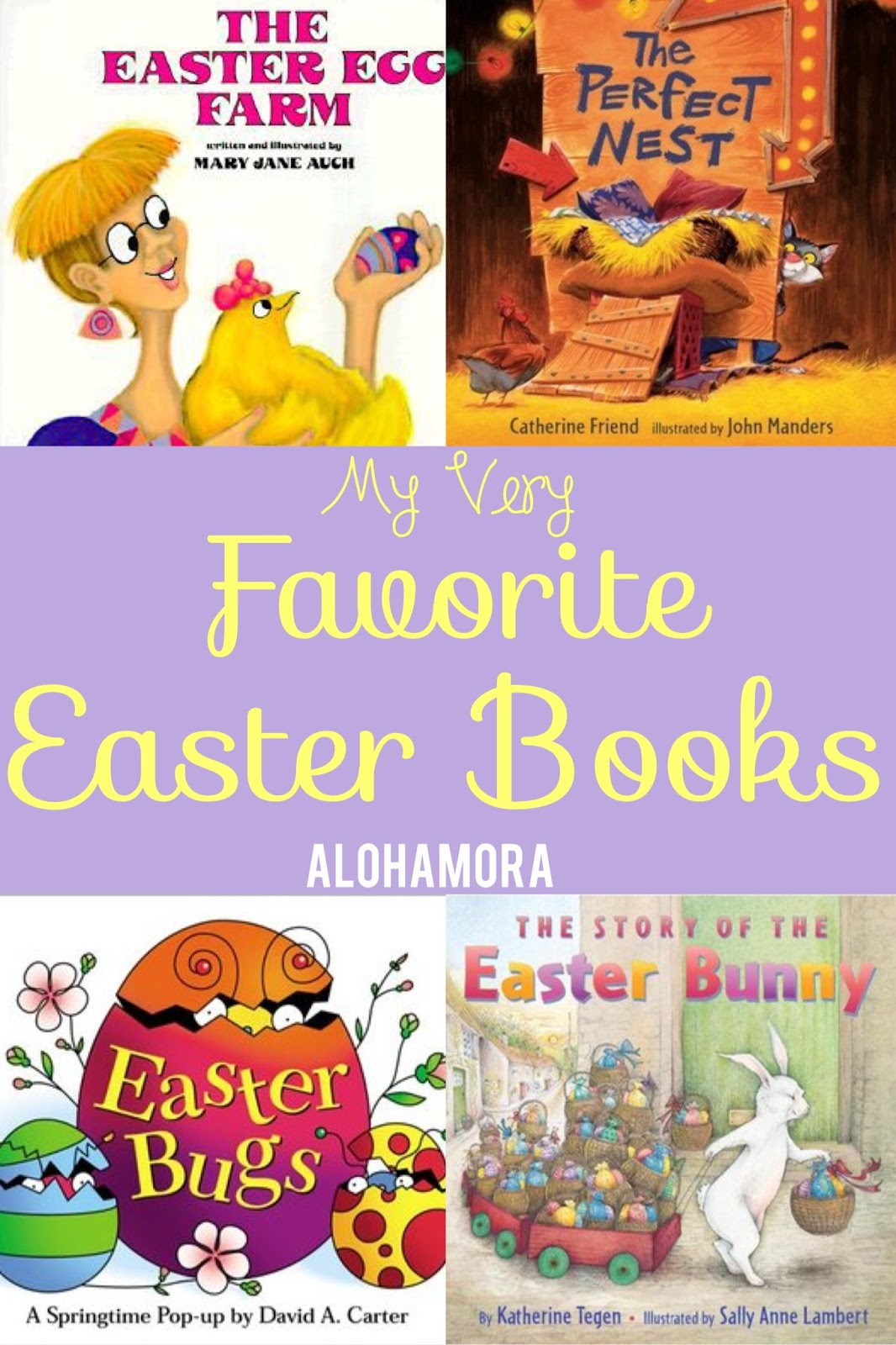 The 4 Very Best, Witty, and Fun Easter Books for all ages (babies, toddlers, elementary school kids, adults, and more).  I've taught library lessons with most of these books as well.  Great read alouds and fun books all around for Easter especially, tho they can be enjoyed year round. Alohamora Open a Book http://alohamoraopenabook.blogspot.com/