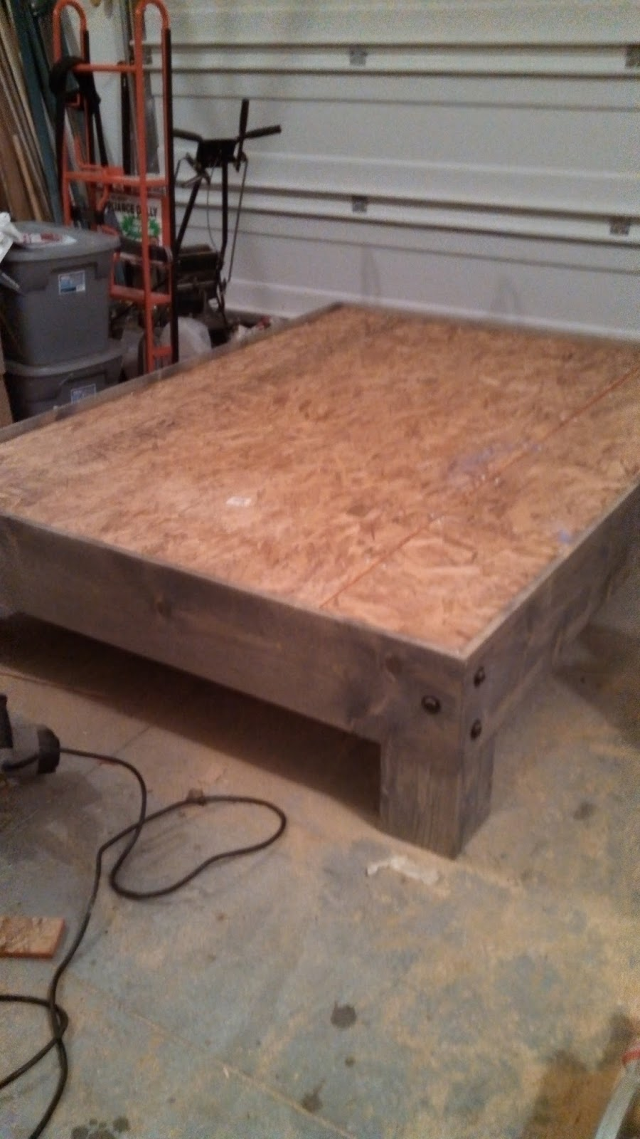 DIY Platform Bed & Salvaged Door Headboard part three