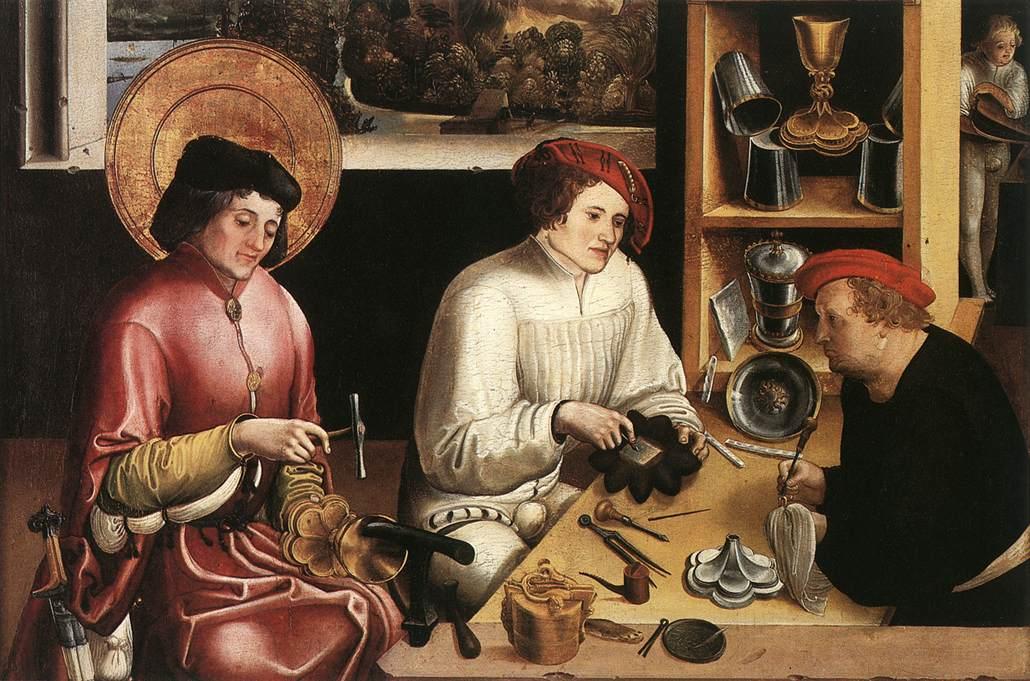 [Image: St.+Eligius+in+his+Workshop+by+Niklaus+Manuel,+1515.jpg]