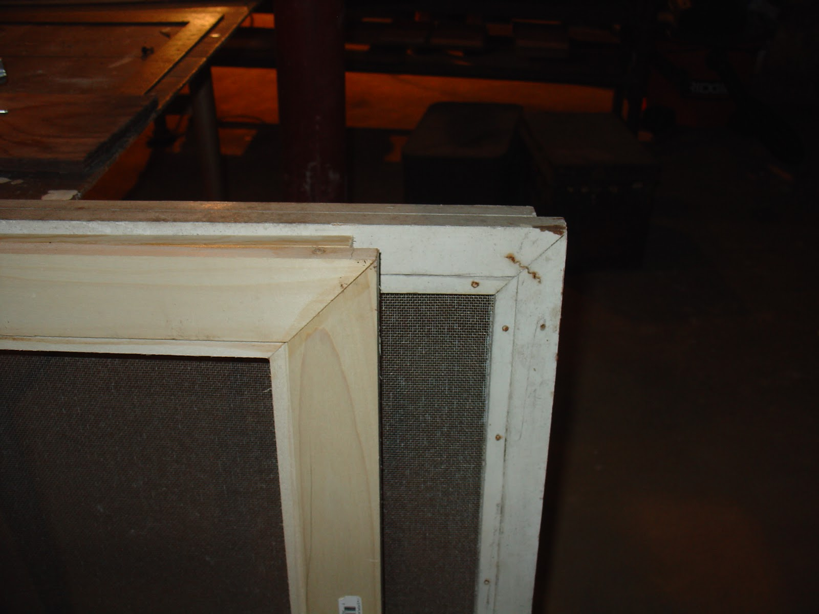 Life At Pugsley: How To Make Wood Window Screens 3: Original Model. Full resolution  picture, nominally Width 1600 Height 1200 pixels, picture with #662F14.