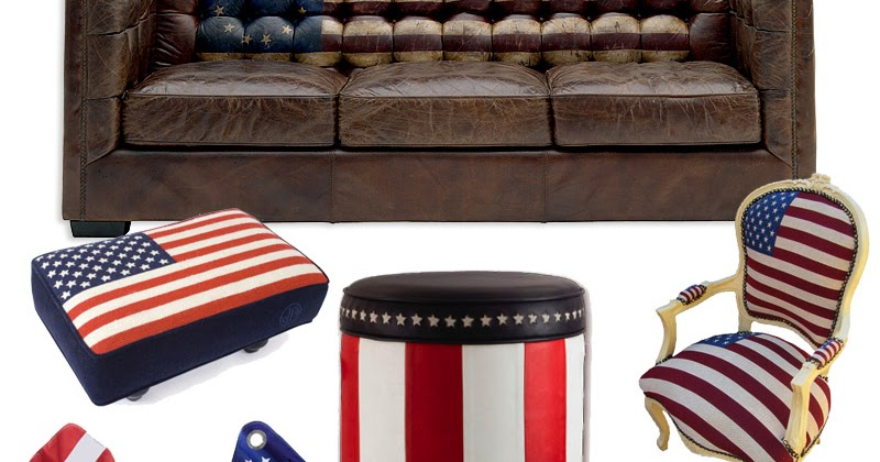10 Pieces Of Perfectly Patriotic Furniture For The Fourth Of July. ~  Lindsay Lohan