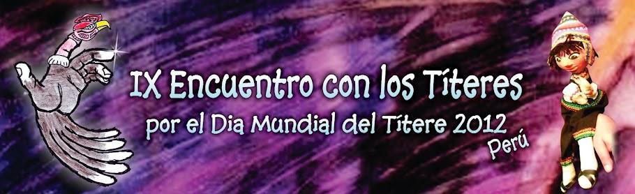 IX  Encuentro con los Títeres