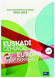 PROGRAMA ELECTORAL 2014-2019