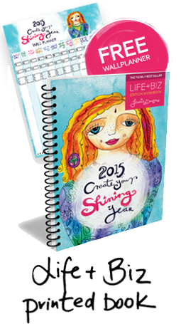2015 Goal planning is the way to a shining year. Create your shining year with Leonie Dawson's book!