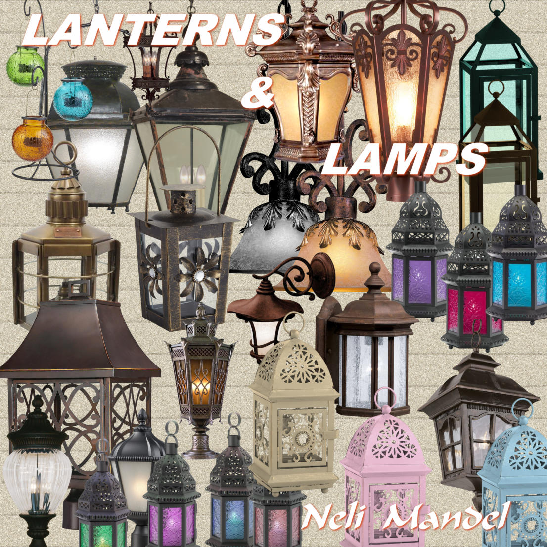 "Free scrapbook elements ""LANTERNS and LAMPS"" from Lugar Encantado"