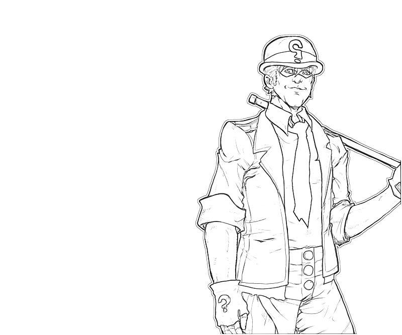 the riddler coloring pages - photo#3