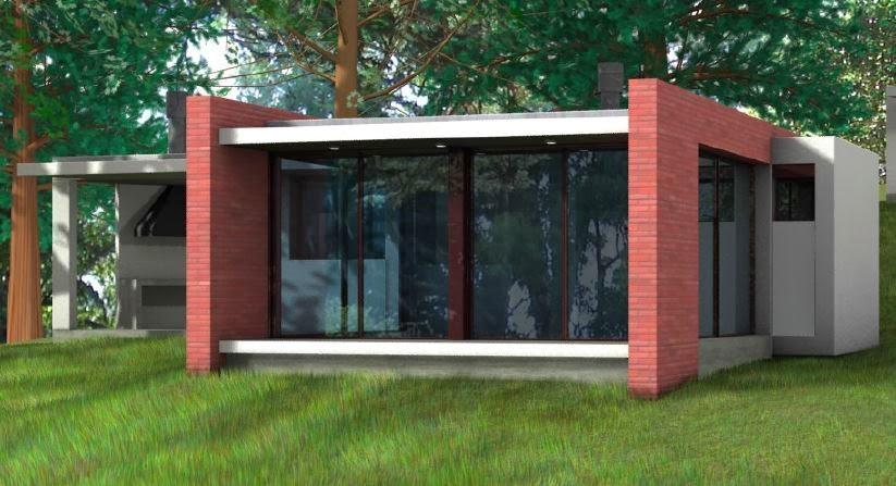 Tierras del sur inmobiliaria cod urb412 casa en alquiler for Casa minimalista uy