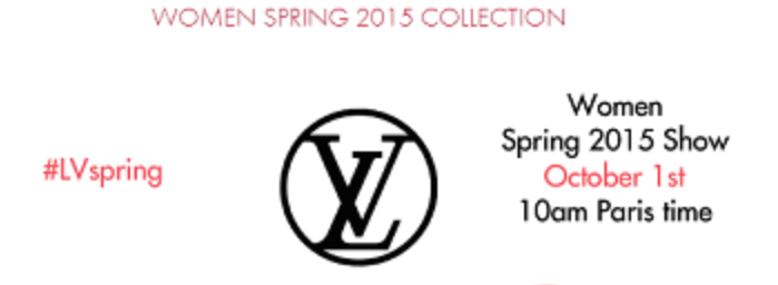 Watch Louis Vuitton Spring/Summer 15 Show LIVE here TODAY!